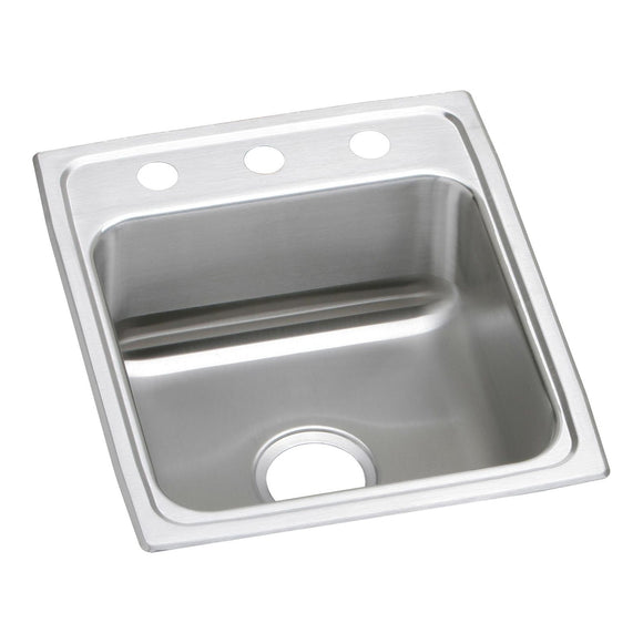 "Elkay LRAD1720603 Lustertone Stainless Steel 17"" x 20"" x 6"", Single Bowl Top Mount ADA Kitchen Sink"