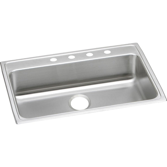 "Elkay LRAD3122551 Lustertone Stainless Steel 31"" x 22"" x 5-1/2"", 1-Bowl Top Mount ADA Kitchen Sink"