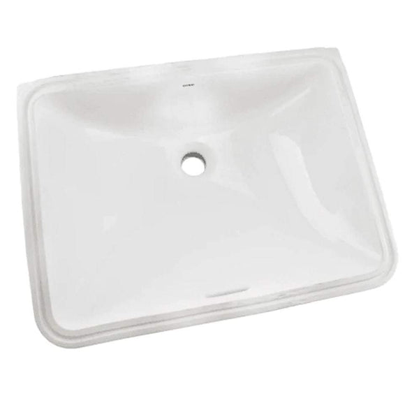 "TOTO LT1535G#01 Rectangular Undercounter Sink 17-11/16"" x 13"" with Overflow, Cotton White"