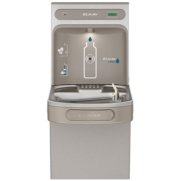 Elkay LZS8WSLK EZH2O Bottle Filling Station, Single ADA Water Cooler, Filtered 8 GPH Light Gray