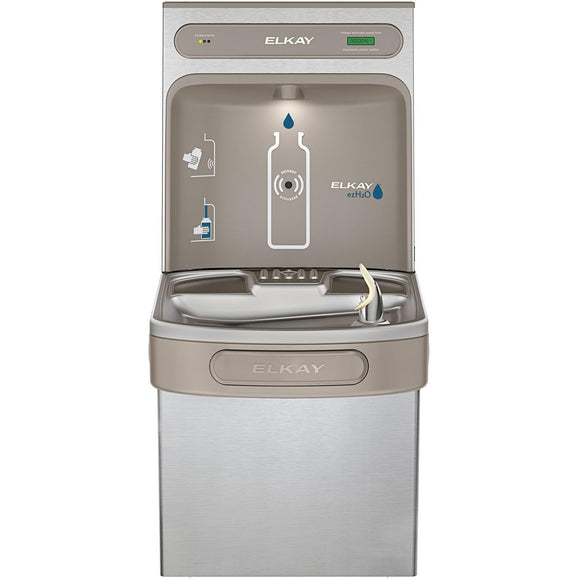 Elkay LZS8WSSK EZH2O Bottle Filling Station, Single ADA Water Cooler, Filtered 8 GPH Stainless Steel