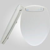 Brondell L60-RB LumaWarm Heated Nightlight Toilet Seat Round Biscuit