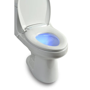 Brondell L60-EW LumaWarm Heated Nightlight Toilet Seat Elongated White