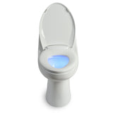 Brondell L60-RW LumaWarm Heated Nightlight Toilet Seat Round White