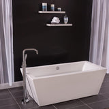 "Miseno MNO6732FSQ 67"" x 32"" Rectangular Freestanding Acrylic Bathtub"