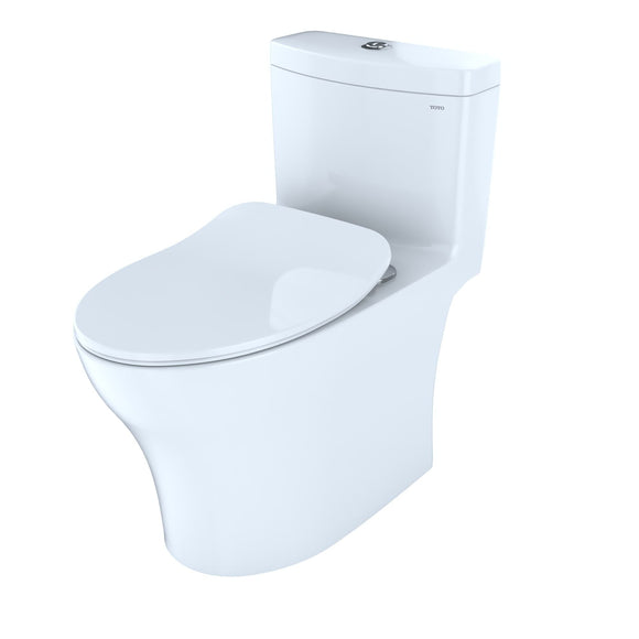 TOTO Aquia IV One-Piece Elongated Dual Flush WASHLET+ Ready Toilet, White