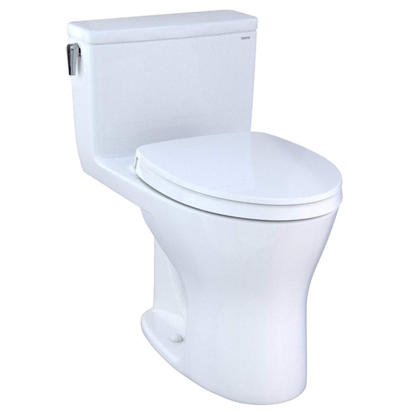 TOTO MS856124CEMG#01 UltraMax One-Piece Toilet with Seat 1.28 and 0.8 GPF CeFiONtect Washlet+