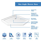 "DreamLine DL-6061-01 Prism Plus 38""x 74 3/4""Frameless Neo-Angle Shower Enclosure in Chrome with White Base"