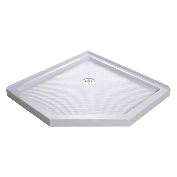 "DreamLine DLT-2040400 SlimLine 40""D x 40""W x 2 3/4""H Corner Drain Neo-Angle Shower Base in White"