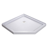 "DreamLine DLT-2038380 SlimLine 38""D x 38""W x 2 3/4""H Corner Drain Neo-Angle Shower Base in White"