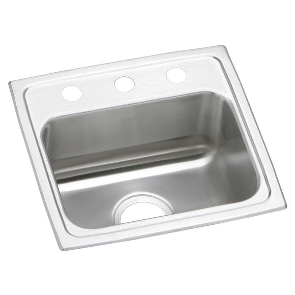 "Elkay PSR17162 Celebrity Stainless Steel 17"" x 16"" x 7-1/8"", Single Bowl Top Mount Kitchen Sink"