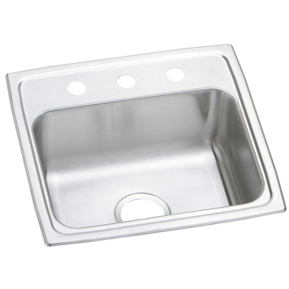 "Elkay PSR19181 Celebrity Stainless Steel 19"" x 18"" x 7-1/8"", Single Bowl Top Mount Kitchen Sink"