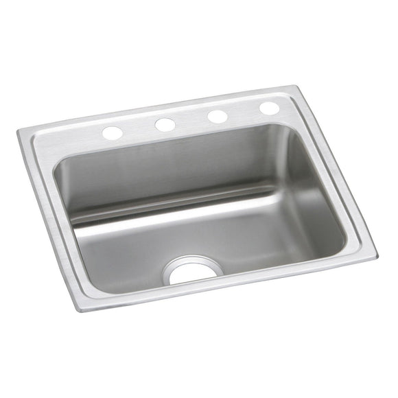 "Elkay PSR22191 Celebrity Stainless Steel 22"" x 19-1/2"" x 7-1/8"", 1-Bowl Top Mount Kitchen Sink"