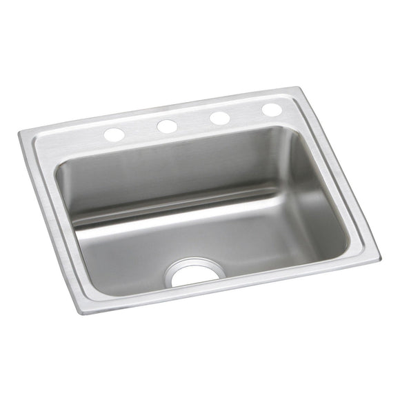 "Elkay PSR25214 Celebrity Stainless Steel 25"" x 21-1/4"" x 7-1/2"", 1-Bowl Top Mount Kitchen Sink"