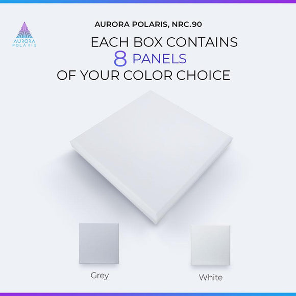 "Aurora POLARIS QuietFoam 24x24x2"" Acoustic Melamine Foam Sound-Absorbent Panels for Home and Professional Recording Studios, Classrooms, Gyms, Home Theaters, Yoga Studios, etc. (8-PACK)"