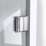 "DreamLine DL-6052-04 Prism Lux 40""x 74 3/4""Fully Frameless Neo-Angle Shower Enclosure in Brushed Nickel with White Base"