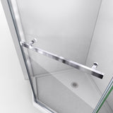 "DreamLine SHEN-2134340-01 Prism 34 1/8""x 72"" Frameless Neo-Angle Pivot Shower Enclosure in Chrome"