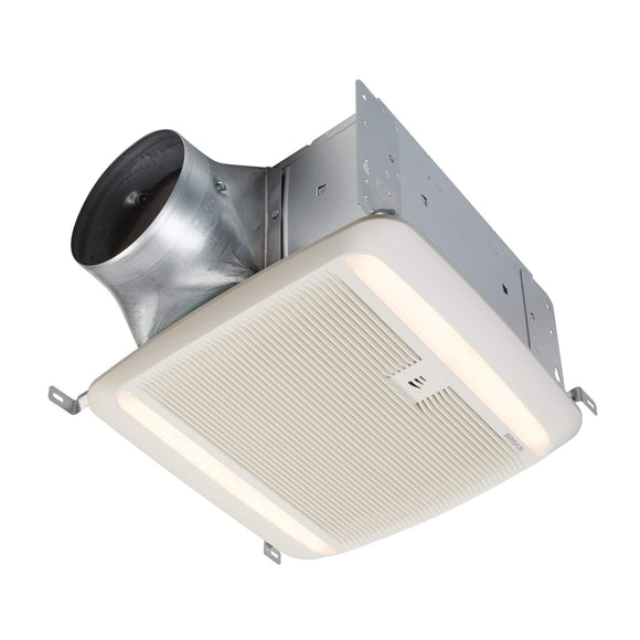 Broan NuTone QTDC SERIES Humidity Sensing Exhaust Ventilation Fan with LED Light, 110-130-150 Selectable CFM, ENERGY STAR