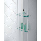 "DreamLine DL-6119L-01CL Infinity-Z 36""D x 60""W x 76 3/4""H Clear Sliding Shower Door in Chrome, Left Drain Base and Backwalls"
