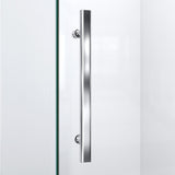 "DreamLine DL-6060-01 Prism Plus 36""x 74 3/4""Frameless Neo-Angle Shower Enclosure in Chrome with White Base"