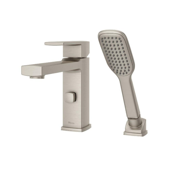 Pfister RT6-2DAK Deckard Single Handle Roman Tub Trim, Handheld Shower, Nickel