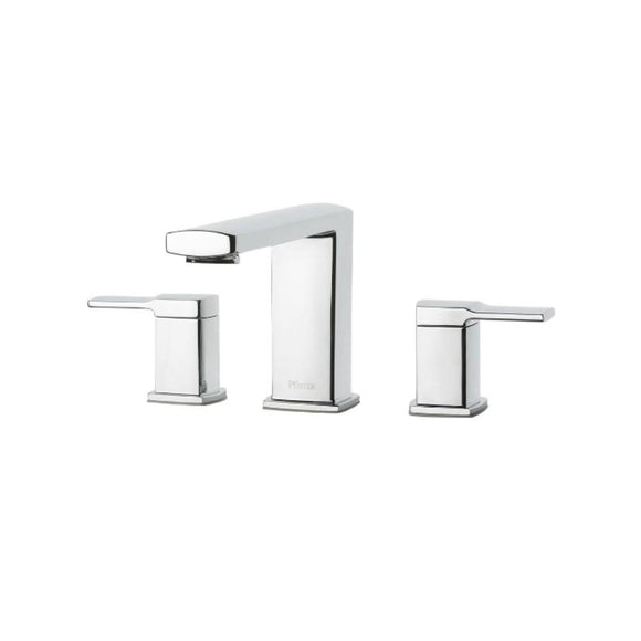 Pfister RT6-5DAC Deckard Double Handle Roman Tub Trim in Polished Chrome