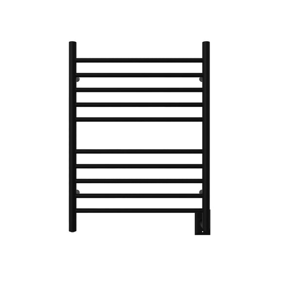 Amba RWH-SMB Radiant Hardwired Curved Towel Warmer with 10 Curved Bars, Matte Black