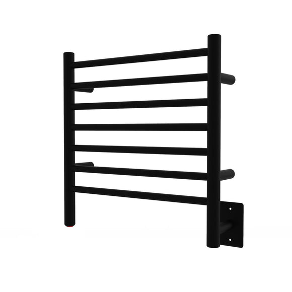 Amba RWHS-SMB Radiant Small Hardwired Towel Warmer with 7 Straight Bars, Matte Black