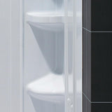 "DreamLine DL-6043C-01 42""x 42""x 75 5/8""H Neo-Angle Shower Base and QWALL-2 Acrylic Corner Backwall Kit in White"