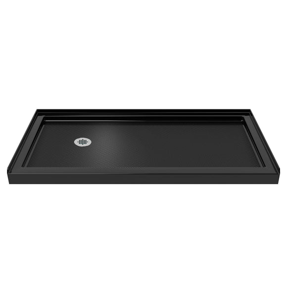 "DreamLine DLT-1136601-88 SlimLine 36""D x 60""W x 2 3/4""H Left Drain Single Threshold Shower Base in Black"