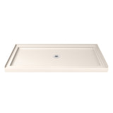 "DreamLine DLT-1130600-22 SlimLine 30""D x 60""W x 2 3/4""H Center Drain Single Threshold Shower Base in Biscuit"