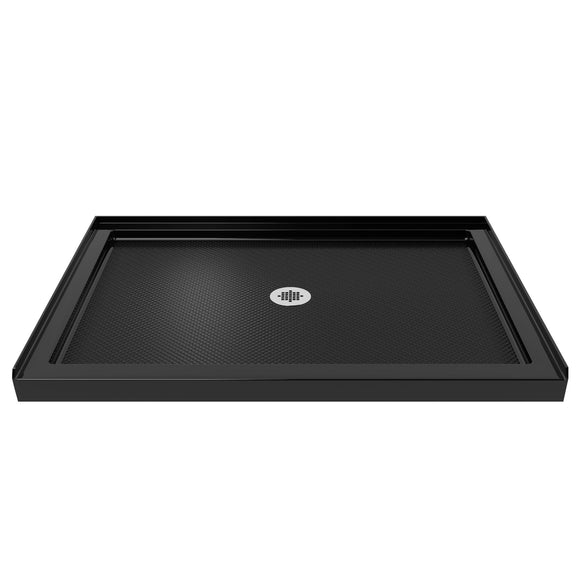 "DreamLine DLT-1134480-88 SlimLine 34""D x 48""W x 2 3/4""H Center Drain Single Threshold Shower Base in Black"