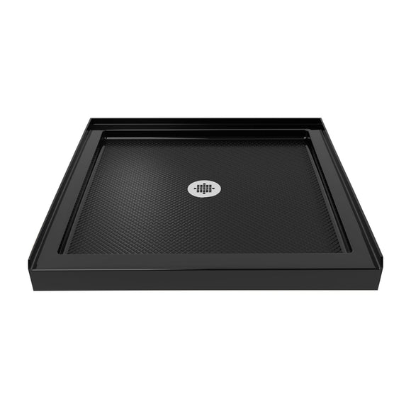 "DreamLine DLT-1136360-88 SlimLine 36""D x 36""W x 2 3/4""H Center Drain Single Threshold Shower Base in Black"