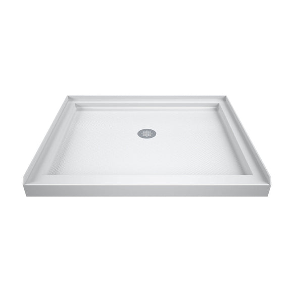 "DreamLine DLT-1142420 SlimLine 42""D x 42""W x 2 3/4""H Center Drain Single Threshold Shower Base in White"