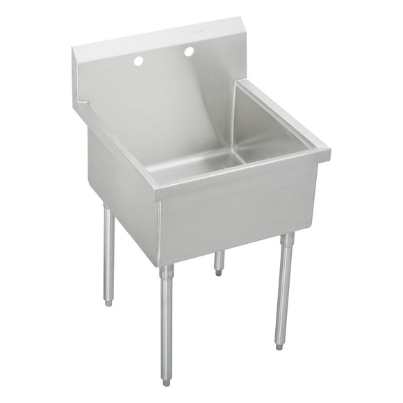 "Elkay SS81242 Sturdibilt 27 x 27-1/2 x 14"" Floor Mount, Single Compartment Scullery Sink"
