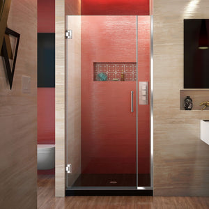 "DreamLine SHDR-243607210-01 Unidoor Plus 36-36 1/2""W x 72""H Frameless Hinged Shower Door in Chrome"