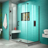 "DreamLine SHEN-24460340-06 Unidoor Plus 46""W x 34 3/8""D x 72""H Frameless Hinged Shower Enclosure in Oil Rubbed Bronze"