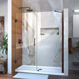 "DreamLine SHDR-20607210-06 Unidoor 60-61""W x 72""H Frameless Hinged Shower Door with Support Arm in Oil Rubbed Bronze"