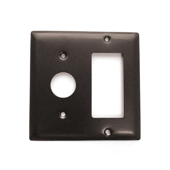 Amba AJ-DGP-O Radiant Square Double Gang Plate in Oil Rubbed Bronze Finish