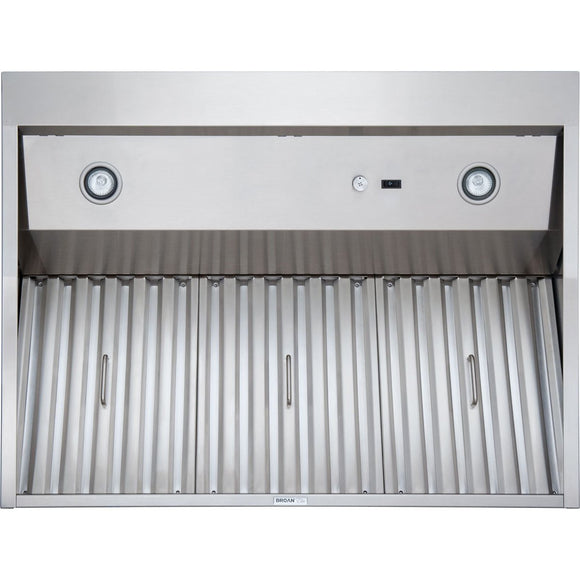"Broan NuTone 48"" Professional Grade Brushed Stainless Steel Outdoor Range Hood"