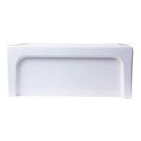"ALFI AB2418ARCH-W 24"" White Arched Apron Wall Fireclay Single Bowl Farm Sink"