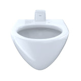 TOTO 1.0 GPF Wall-Mounted Flushometer Toilet Bowl with Back Spud, Cotton White, SKU: CT708UV#01