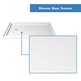"DreamLine DLT-1036481 SlimLine 36""D x 48""W x 2 3/4""H Left Drain Double Threshold Shower Base in White"