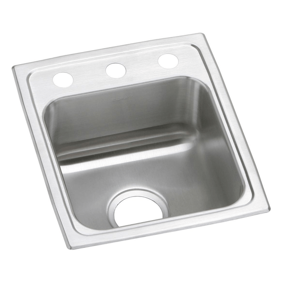 "Elkay PSR15173 Celebrity Stainless Steel 15"" x 17-1/2"" x 7-1/8"", 1-Bowl Top Mount Bar Sink"