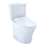 TOTO Aquia IV Dual Flush Toilet and SoftClose Seat, WASHLET+ Ready, Cotton White, SKU: MS446234CEMFG#01