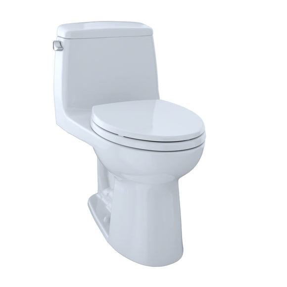 TOTO UltraMax One-Piece Elongated 1.6 GPF Toilet with CeFiONtect, Cotton White, SKU: MS854114SG#01