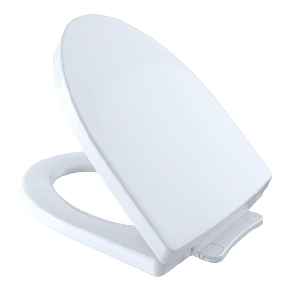 TOTO Soiree SoftClose Non Slamming, Slow Close Toilet Seat and Lid, Cotton White, SKU: SS214#01