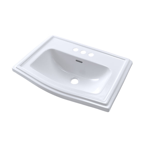 "TOTO Clayton Drop-In Bathroom Sink for 4"" Center Faucets, Cotton White, SKU: LT781.4#01"