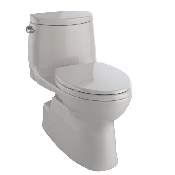 TOTO Carlyle II One-Piece Elongated 1.28 GPF Skirted Toilet, Sedona Beige, SKU: MS614114CEFG#12