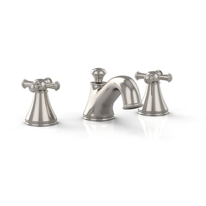 TOTO Vivian 2 Cross Handle Widespread 1.5 GPM Bathroom Faucet in Polished Nickel, SKU: TL220DD#PN